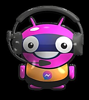 Robot Max Bot en 3D de Frente PNG.png