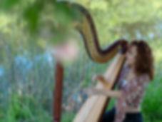 Harpist Natalie Wagner performing