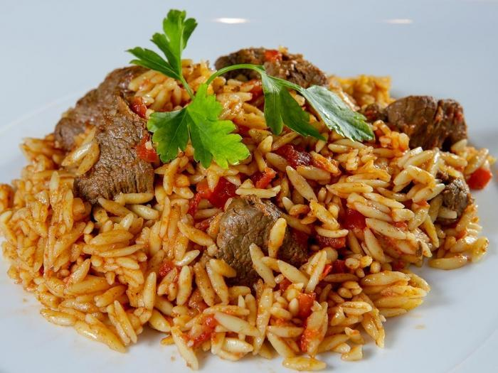 ORZO WITH PORK