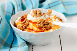 Greek yogurt with honey and nuts