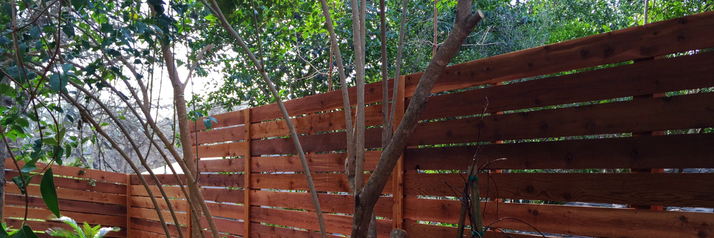 Standard horizontal semi-privacy fence made by Austin Brothers Fence Co.