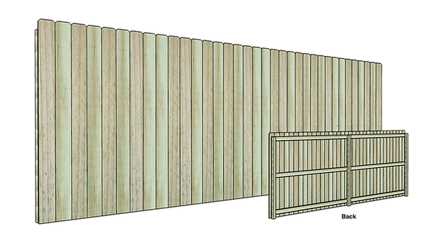 Low Cost Vertical Wood Fence
