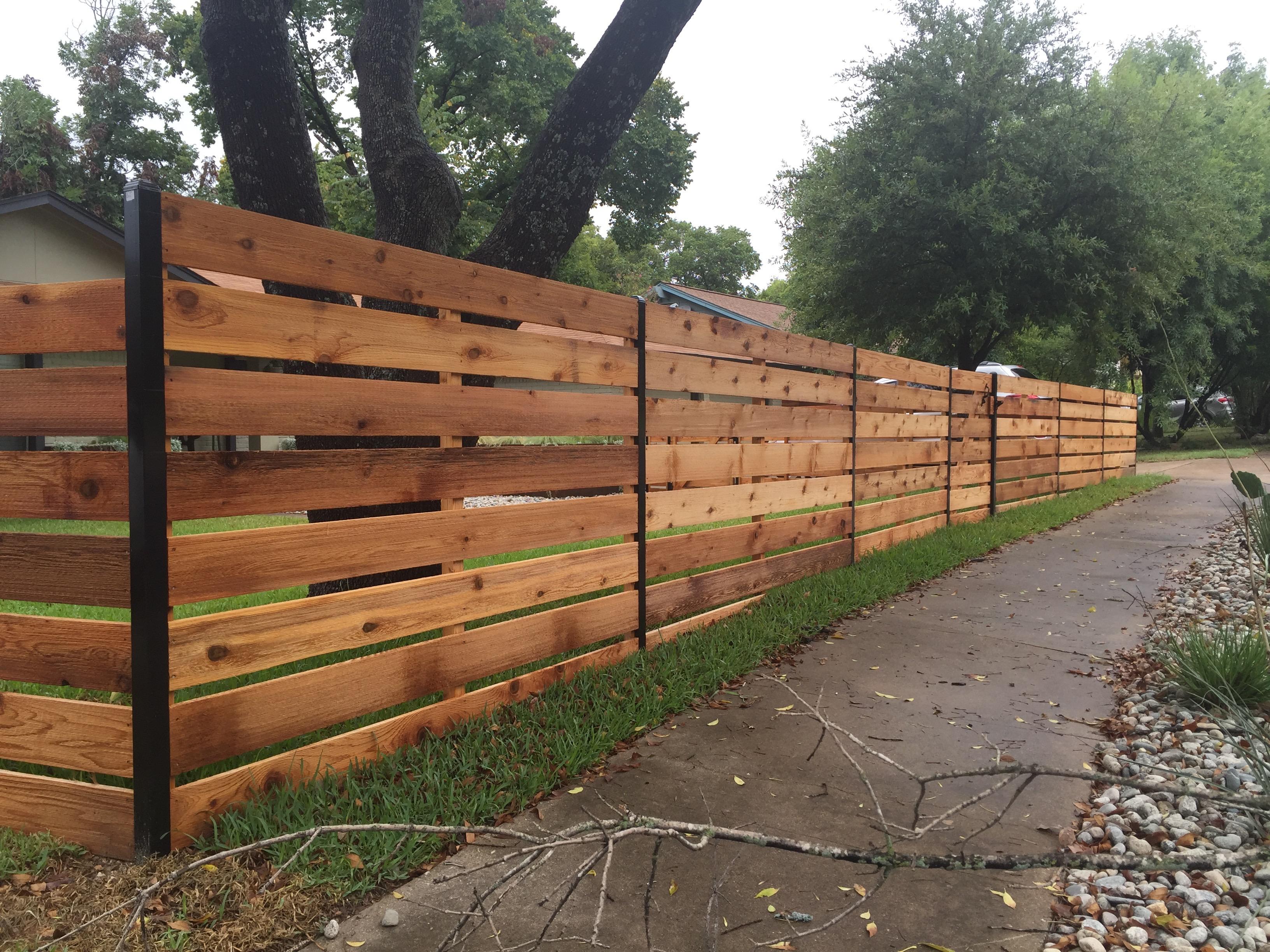 Horizontal Fence Austin