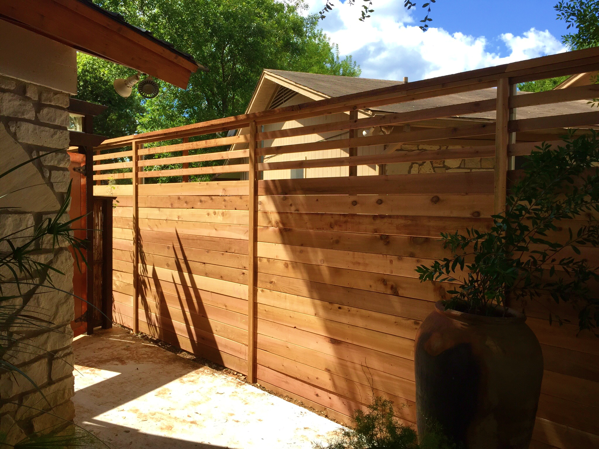 Horizontal Wood Fence Austin
