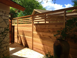 Horizontal Wood Fence Austin