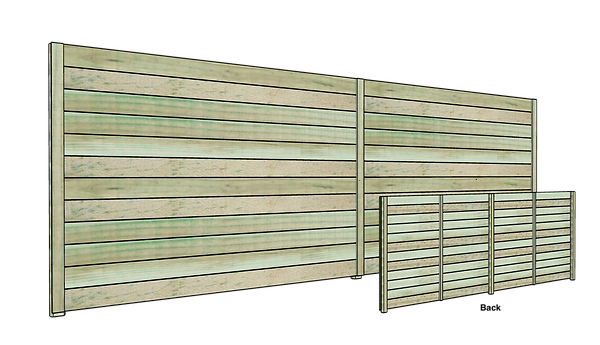 Low Cost Horizontal Wood Fence