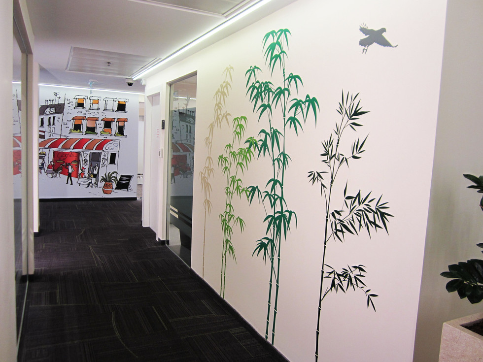 Wall graphics - bamboo forest