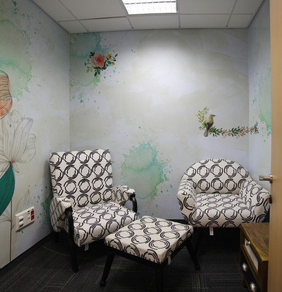 Wall graphics - Private nursing room