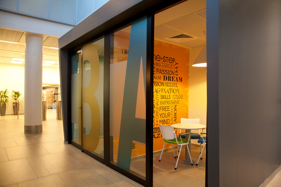 Wall graphics - Interview rooms