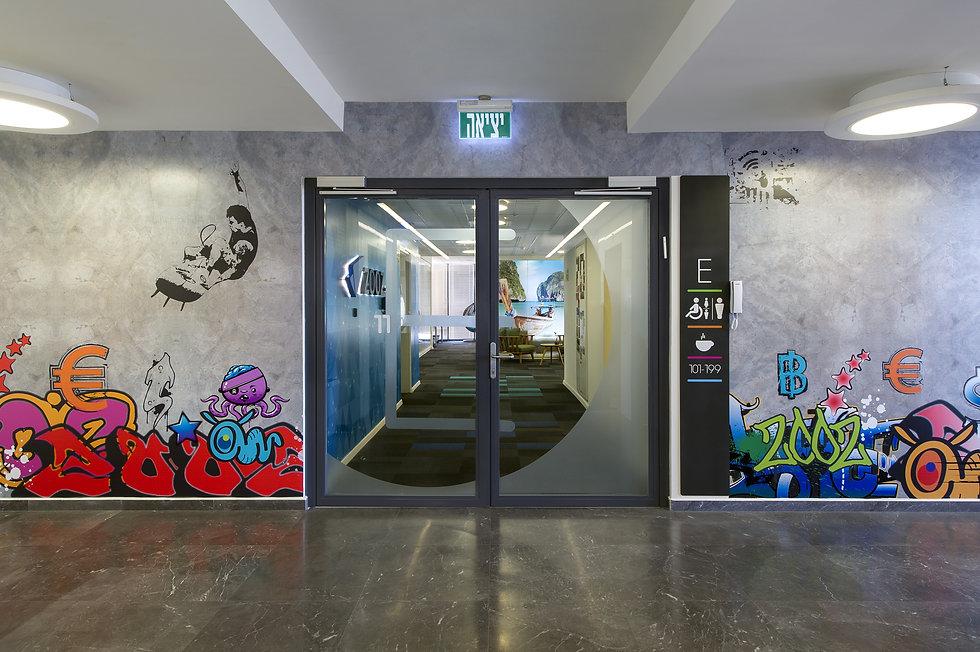 Lobby design, wall graphics, graffuty