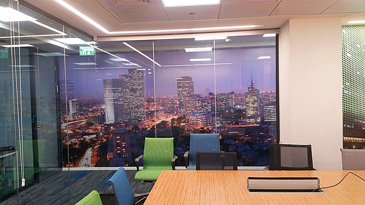 Wall graphics near meeting room
