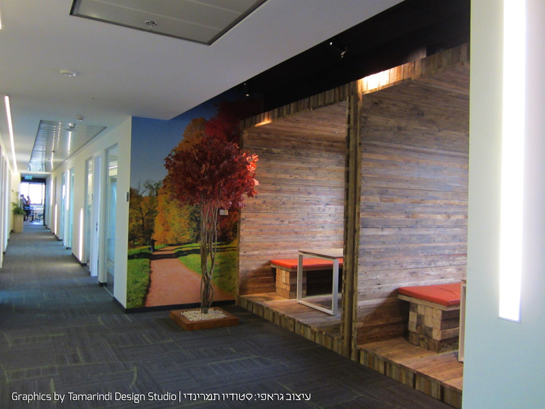 Wall graphics  near booths