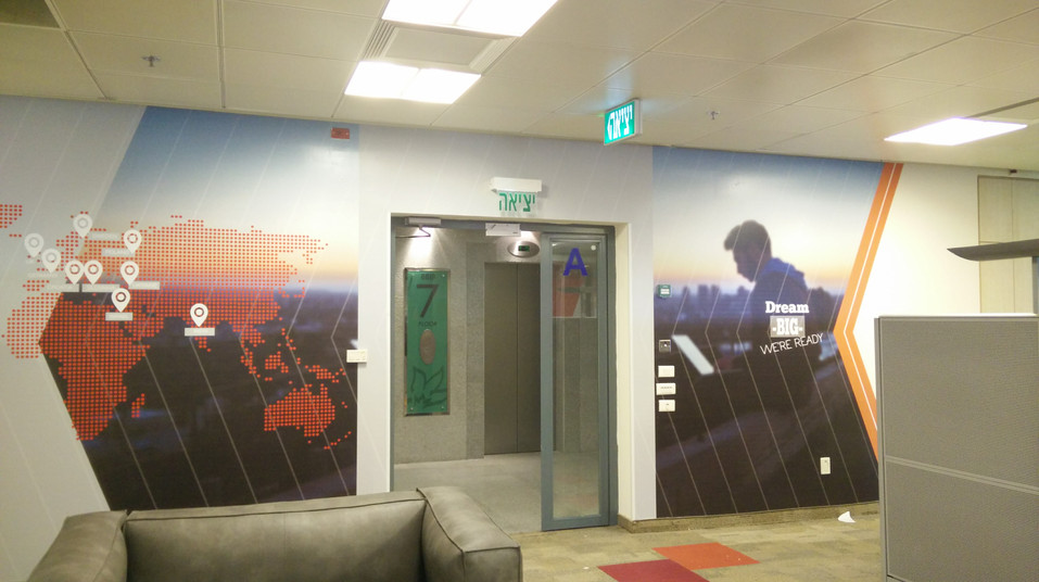 Wall graphics - lobby