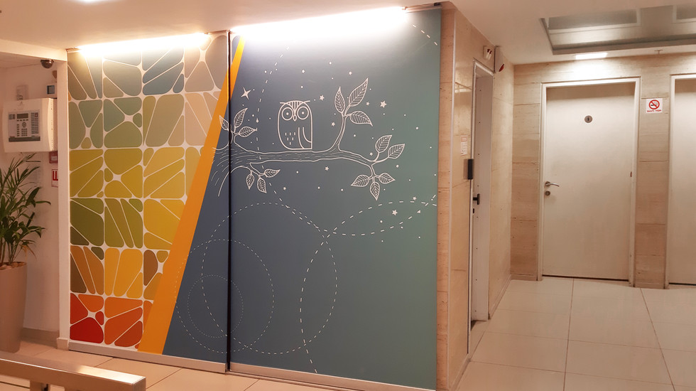 Lobby wall branding