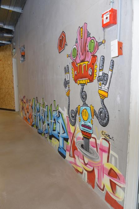 Graffity in open space