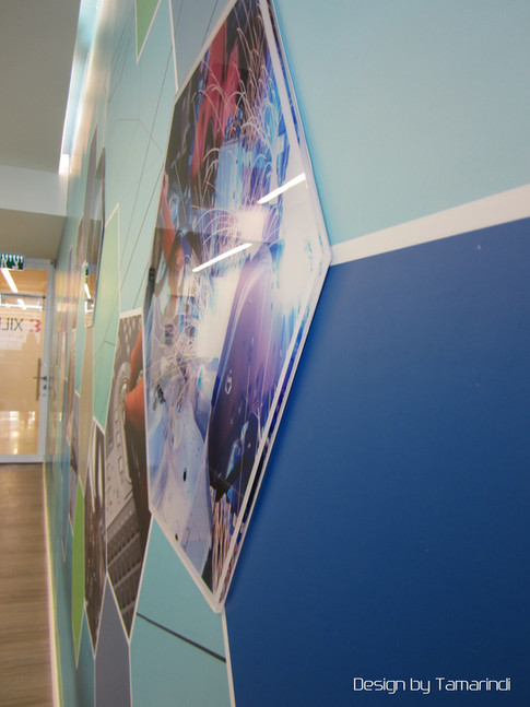 Wall graphics - lobby cafeteria