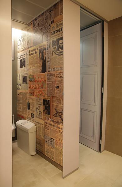 Wall graphics - toilets
