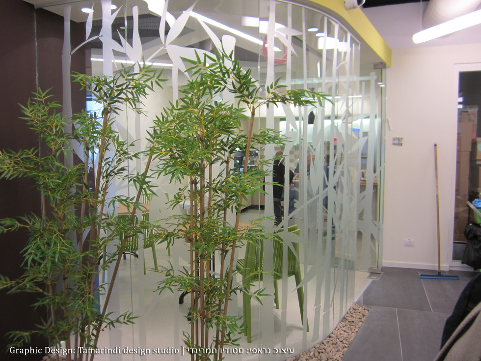 Glass partition graphics