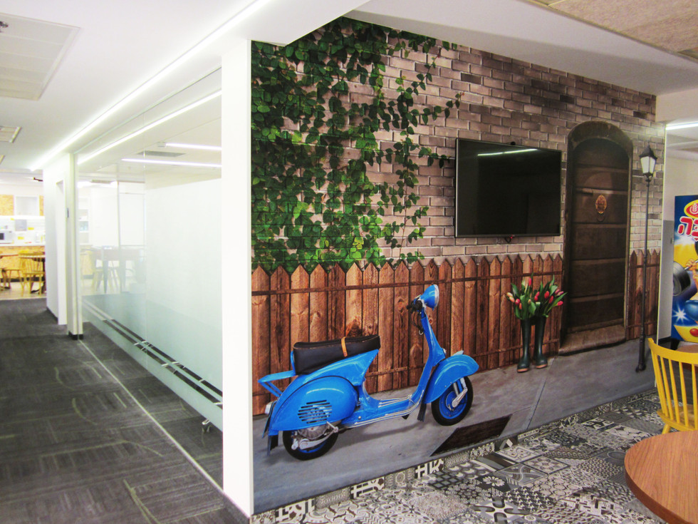 Wall graphics - cafeteria