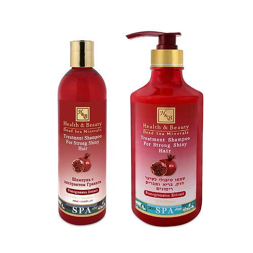 Укрепляющий шампунь для волос с экстрактом Граната