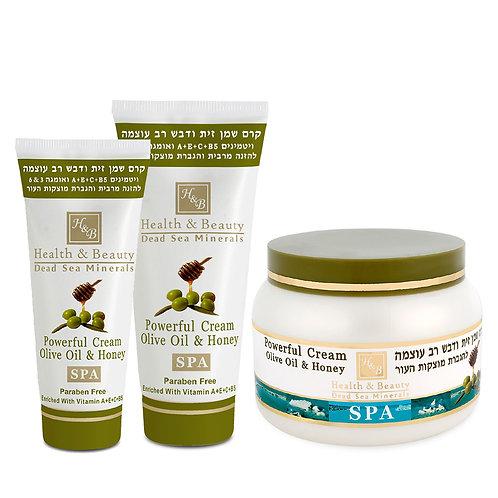 Интенсивный крем на основе оливкового масла и меда