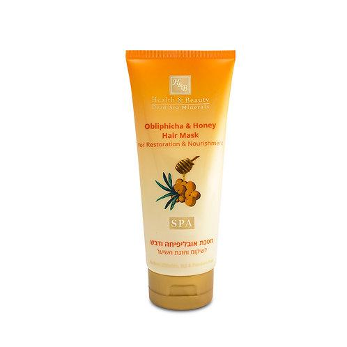 Маска для восстановления и питания волос с Облепихой и Мёдом