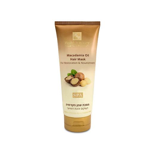 Маска для восстановления и питания волос с маслом Макадамии
