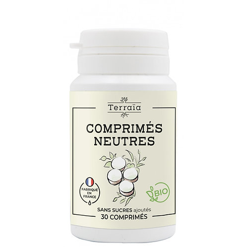 Comprimés neutres Bio pour huiles essentielles - 30 comprimés