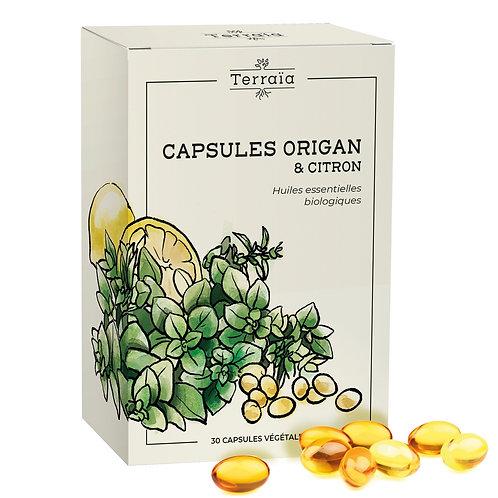Capsules essentielles Origan & Citron - 30 capsules végétales