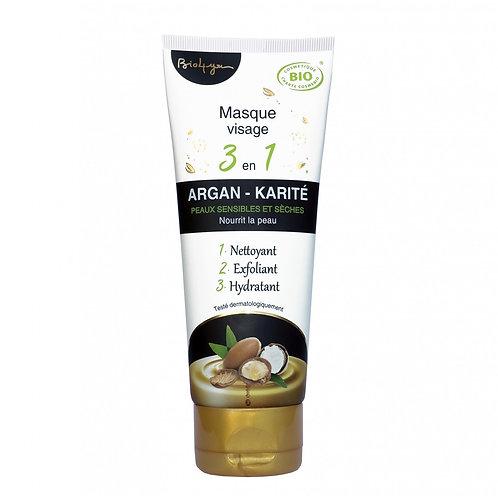Masque visage 3 en 1 argan karité Bio - 100 ml