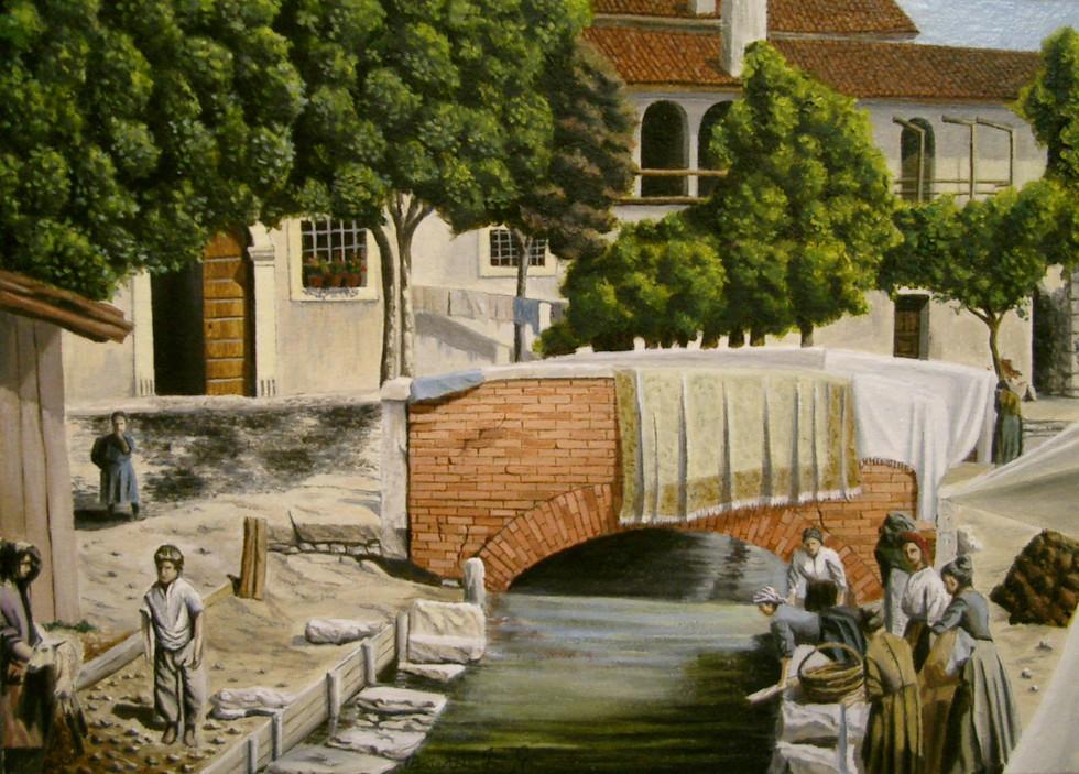 06) Verona, lavandaie in Campofiore nell' 800
