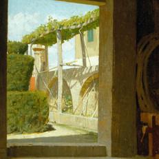 1.G.Abbati_Dalla cantina di Diego Martelli_1866 circa_Olio su tavola, cm. 38x29_Collezione privata