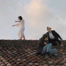 8_Funambola e clown (Zona Franca), 2004, stampa lambda, 90 x 100 cm