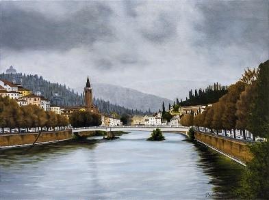 79) Verona, scorcio autunnale