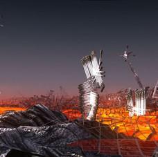 23_Magma, (Fire Flows), 2012, stampa digitale su carta cotone, 150 x 85 cm