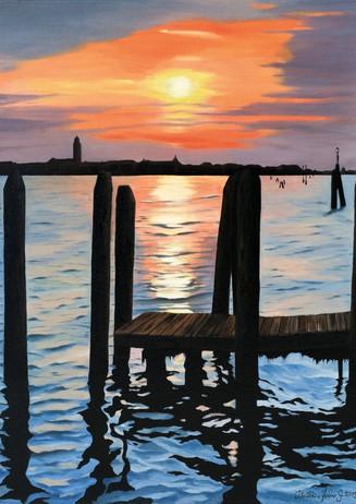 78) Venezia, tramonto dal Lido