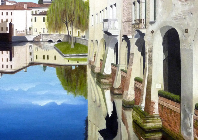 16) Treviso i portici di Via Buranelli