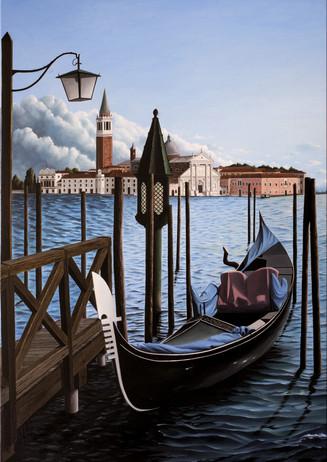 64) Venezia, gondola solitaria 90x60-1
