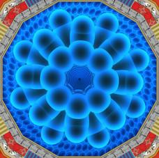 17_The God Particle, 2009, animazione 3D e colore a smalto su schermo al plasma (screen painting), 95 x 165 cm