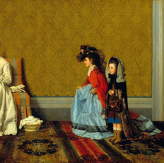 7.Lega S._Le bambine che fanno le signore_1872_Olio su tela_cm. 60x100_Istituto Matteucci,Viareggio