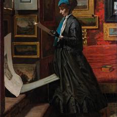 8.T.Signorini_Aspettando_1866-1867_Olio su tela, cm. 119x64_Collezione Angiolini, Livorno