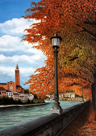 70) Verona, Lungadige Re Teodorico 50x40