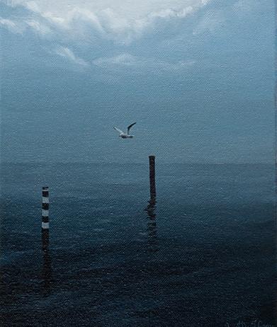 89) Alba in laguna