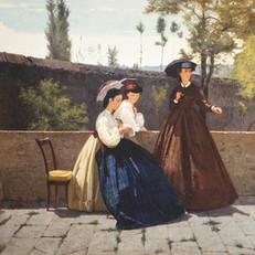 2.S.Lega_L'elemosina_1864_Olio su tela, cm. 71,8x124_Collezione privata