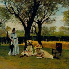 6.S.Lega_Alla villa di Poggio Piano_1888-1889_Olio su tavola, cm. 34x60,5_Collezione privata