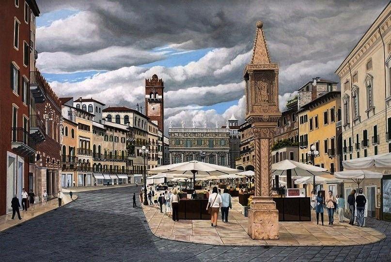 77) Verona, Piazza Erbe 2019