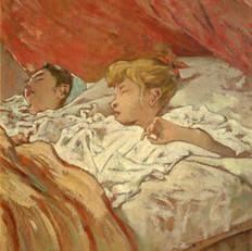 5.T.Signorini_Bambini colti nel sonno_1896_Olio su cartone, cm. 49,5x40_Collezione privata