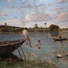 10.S.De Tivoli_L'antica pescaia a Bougival_1877-1878_Olio su tela, cm. 89,5x116_Collezione privata