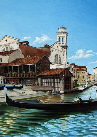85) Venezia, Rio San Travaso 40x50