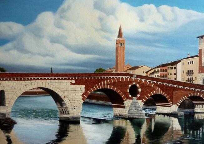 30) Verona, Ponte Pietra da San Giorgio